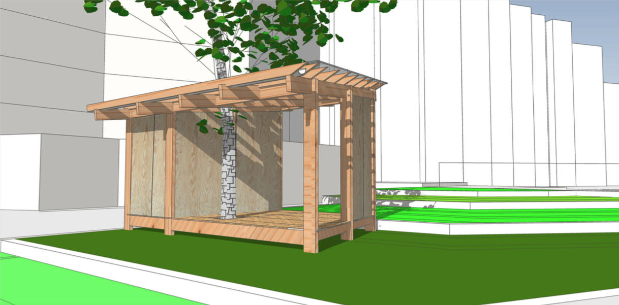 cabane Simone Veil 3D
